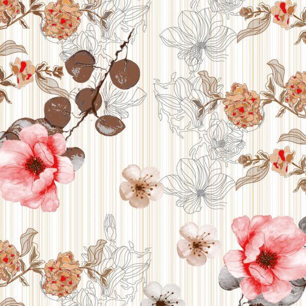 Beautiful Aroma Refreshing Red Flowers King Size Bedsheet Closeup