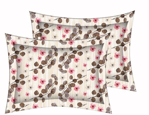 Beautiful Aroma Refreshing Red Flowers King Size Bedsheet Pillow