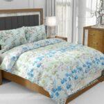 Beautiful Blue Aroma Floral Jumbo Size Bedsheet