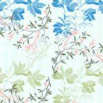Beautiful Blue Aroma Floral King Size Bedsheet Closeup