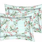 Beautiful Blue Aroma Floral King Size Bedsheet Pillow