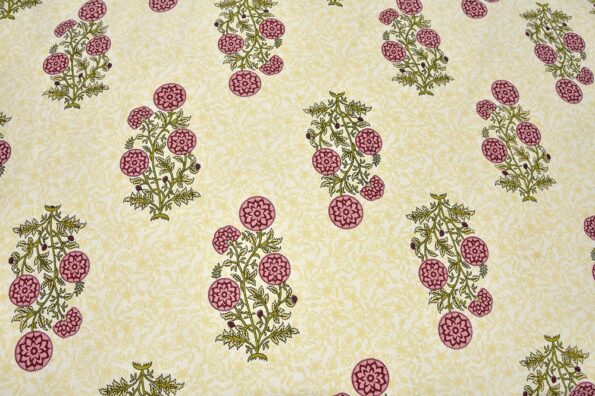 Beautiful Brown Base Floral Print King Size Bed Sheet Close