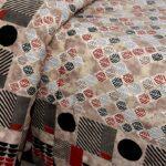 Beautiful Design Brown Base Leaf Pattern Giza Cotton Double BedSheet Closeup