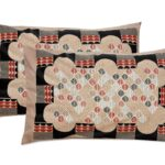 Beautiful Design Brown Base Leaf Pattern Giza Cotton Double BedSheet Pillow Covers