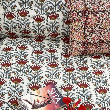 Beautiful Floral Base King Size Bedsheet