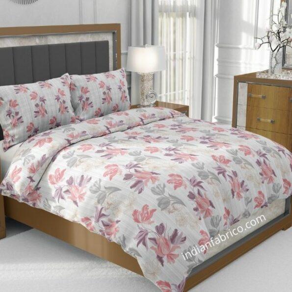 Beautiful Purple Aroma Floral Jumbo Size Bedsheet