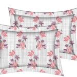 Beautiful Purple Aroma Floral King Size Bedsheet Pillow