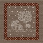 Brown Elephant Pure Giza Cotton Double Bedsheet
