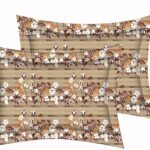 Brown Floral Charm King Size Bedsheet Pillow