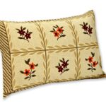 Brown Floral Print Double Bedsheet with Pillow Cover