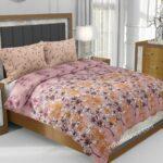 Dark Pink Manjari Tulsi Floral Jumbo Size Bedsheet