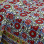 Ethnic Jaipuri Sun Flowery Print Double Bed Sheets Closeup