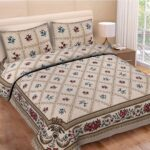 Floral Print Double Bedsheet with Pillow Covers
