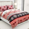 Soft Pink Flowery Design Super Fine Cotton King Size Bedsheet