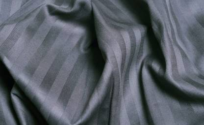 Solid Dark Grey Satin Pure Cotton King Size Bedsheet Closeview