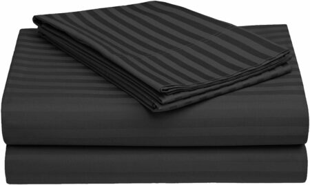 Solid Dark Grey Satin Pure Cotton King Size Bedsheet Design