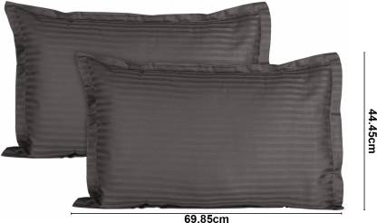 Solid Dark Grey Satin Pure Cotton King Size Bedsheet with 2 Pillow Cover