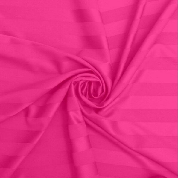 Solid Dark Pink Satin Pure Cotton King Size Bedsheets