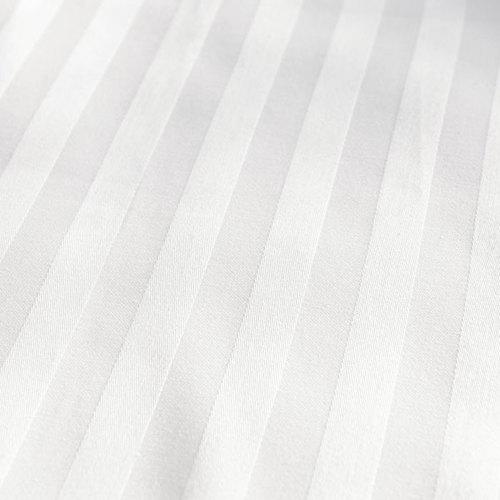 Solid White Satin Pure Cotton King Size Bedsheet Closeup