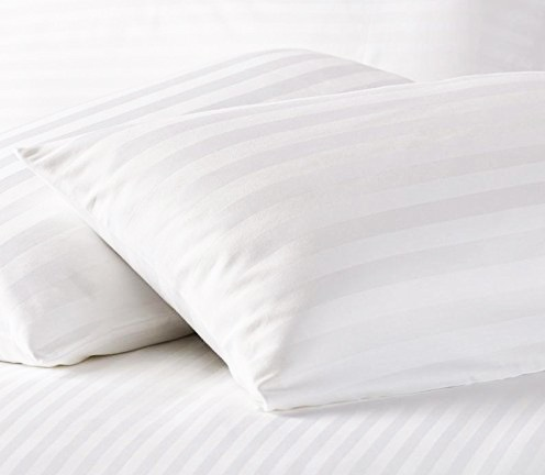 Solid White Satin Pure Cotton King Size Bedsheet Pillow Covers