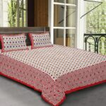 Traditional Sanganeri Block Print Geometric Shape King Size Pure Cotton Bedsheets