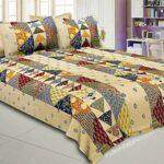 Barmeri Print Triangle Shape King Size Bedsheet