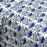 Beautiful Blue Floral Base King Size Bedsheet Side view