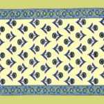 Beautiful Green Base Floral Print Double Bedsheet Pillow Design