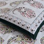 Beautiful Seashell Print King Size Double Bedsheet Closeup