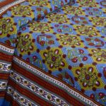 Blue Green Kite Charisma Double Bedsheet with Two Pillow Covers