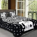Double Bedsheet With Big Elephant And Tree Pattern Two Pillow Covers