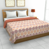 Jaipuri Print Orange Pattern Reversible Pure Cotton Double Bed Dohar
