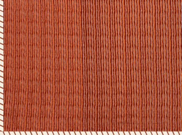 Jaipuri Print Orange Pattern Reversible Pure Cotton Double Bed Dohar back side