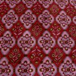 Kalamkari Red Color Double Bedsheet with Two Pillow Cover Closeup