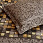 Procian Cotton Grey Boxy Beauty Double Bedsheets Closeup