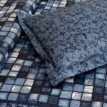 Procion Blue Boxy Beauty Double Bedsheet Closeup