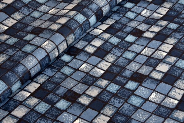 Procion Blue Boxy Beauty Double Bedsheets