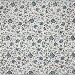 Pure Mulmul Cotton Blue Floral Pattern Reversible Single Bed Dohar Closeup