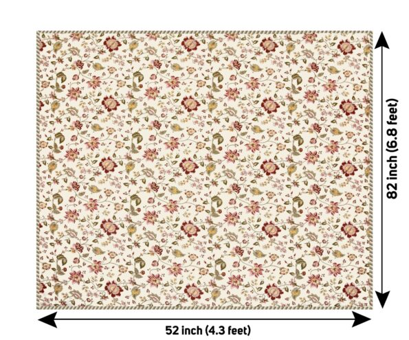Pure Mulmul Cotton Red Floral Pattern Reversible Single Bed Dohar Fullview
