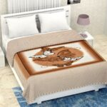 Pure Mulmul Cotton Romania Butterfly Print Reversible Double Bed Dohar