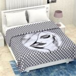 Pure Mulmul Cotton Romania Pattern Reversible Double Bed Dohar