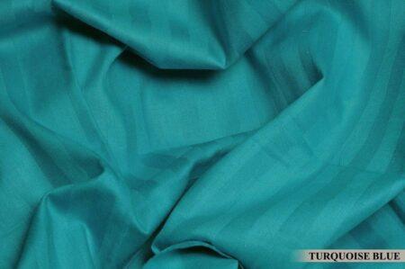 Aqua Turquoise Satin Pure Cotton King Size Bedsheet Closeup