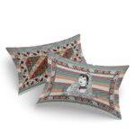 Beautifual Art Frame Border King Size Bedsheet Pillow Cover