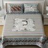 Beautiful Art Frame Border Sky Color King Size Bedsheet with Pillow Cover