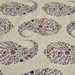 Beautiful Brown Base Seashell Print King Size Double Bedsheet Close view