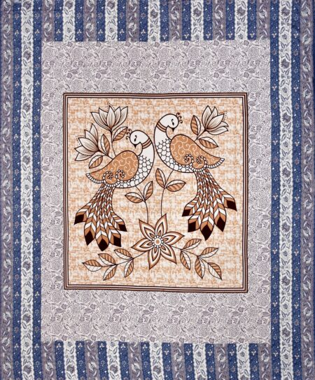Beautiful Jalpari Bird Print King Size Bedsheet Full View