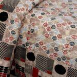 Brown Base Leaf Pattern Giza Cotton Single Bed sheet Closeup