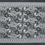 Dark Black Beautiful Floral Print Double Bedsheet