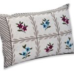 Grey Base Floral Single Bedsheet with One Pillow Covers