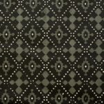 Indigo Dark Green Color Square Border King Size Bedsheet Closeup